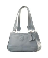 Genuine Leather Fashion Handbag eZeeBags YA818v1 - from the Maya Collection - Blue.