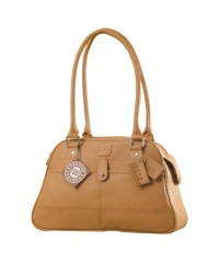 eZeeBags Maya Collection Ladies Handbag - YA825v1. Large compartment, front & rear outside pockets & lots of thoughtful features - Tan.