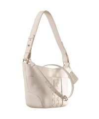 Cute & compact, just the right size for the evening outing or the weekend party. eZeeBags YA832v1 in 100% genuine leather - White.