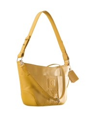 Cute & compact, just the right size for the evening outing or the weekend party. eZeeBags YA832v1 in 100% genuine leather - Yellow.