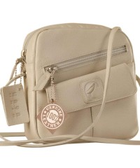 Sling it with style. Maya Teens YT840v1 genuine leather sling bags in 12 pleasant colors by eZeeBags - Pearl.