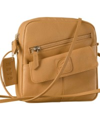 Sling it with style. Maya Teens YT840v1 genuine leather sling bags in 12 pleasant colors by eZeeBags - Tan.