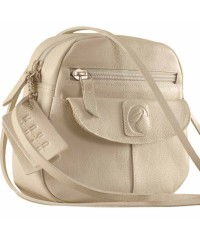 Nothing like a Maya Teen genuine leather sling bag - to enhance your style & confidence. eZeeBags YT842v1 - Pearl.