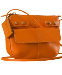 eZeeBags MayaTeens YT844v1 - Style, function & elegance rolled into this beautiful form factor. 100% genuine leather in 12 beautiful colors - Orange.
