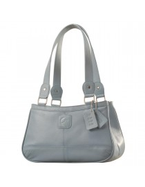 Genuine Leather Fashion Handbag eZeeBags YA818v1 - from the Maya Collection - Blue.