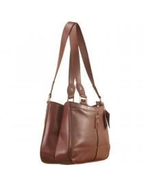 Genuine Leather Fashion Handbag eZeeBags YA818v1 - from the Maya Collection - Burgundy.