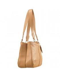 Genuine Leather Fashion Handbag eZeeBags YA818v1 - from the Maya Collection - Tan.
