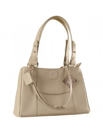 Dark, tall & handsome, Maya Collection YA824v1 by eZeeBags ladies leather handbag - stands tall in style & function - Pearl.