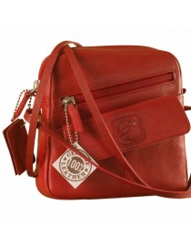 Sling it with style. Maya Teens YT840v1 genuine leather sling bags in 12 pleasant colors by eZeeBags - Red.