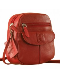 Nothing like a Maya Teen genuine leather sling bag - to enhance your style & confidence. eZeeBags YT842v1 - Red.