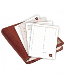 "Planner / Organiser diary refills. Desktop format, undated, page-a-day design for ,,the brown book"" MA-Series."